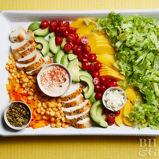 30 minute healthy chicken recipes mexican chopped chicken salad with jalapeno dressing forumfinder Choice Image