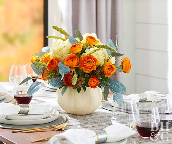 Pretty thanksgiving centerpieces