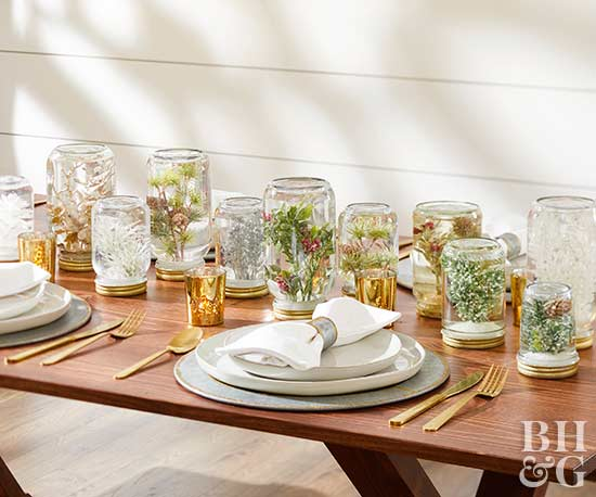 Simple christmas centerpieces mason jar centerpiece solutioingenieria Images
