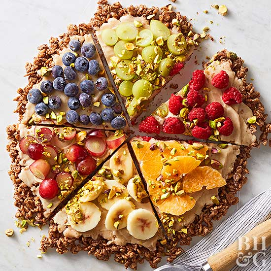 Dessert Pizza with Banana Ice Cream