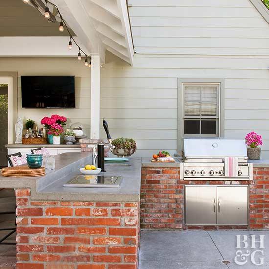 Lowes Outdoor Kitchen Outdoor Kitchen Designs Outdoor: Outdoor Kitchen On A Budget
