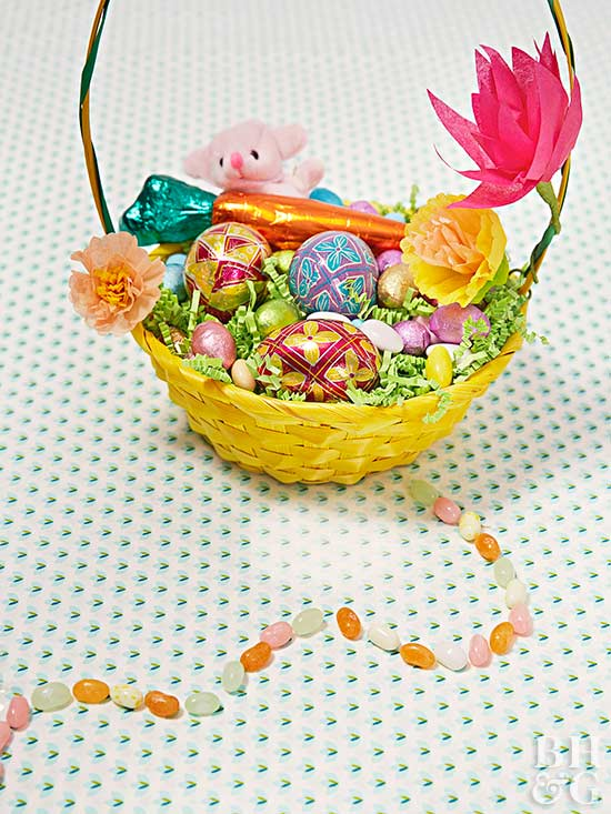 The best easter basket ideas for every age create cute easter baskets with our easy ideas from paper flowers to patterned fabric we have simple how tos for creating an adorable easter basket negle Gallery