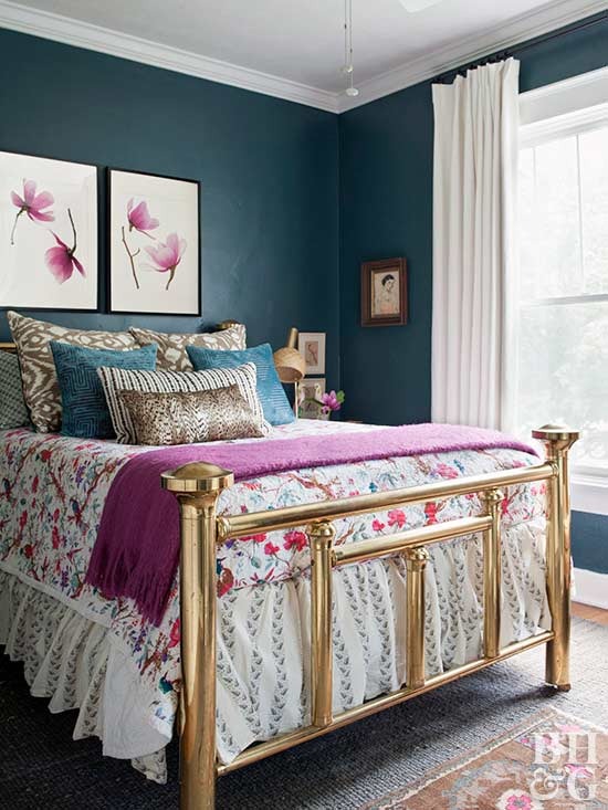 Painted Bedrooms. Jewel Tone Bedroom Paint Colors for Bedrooms