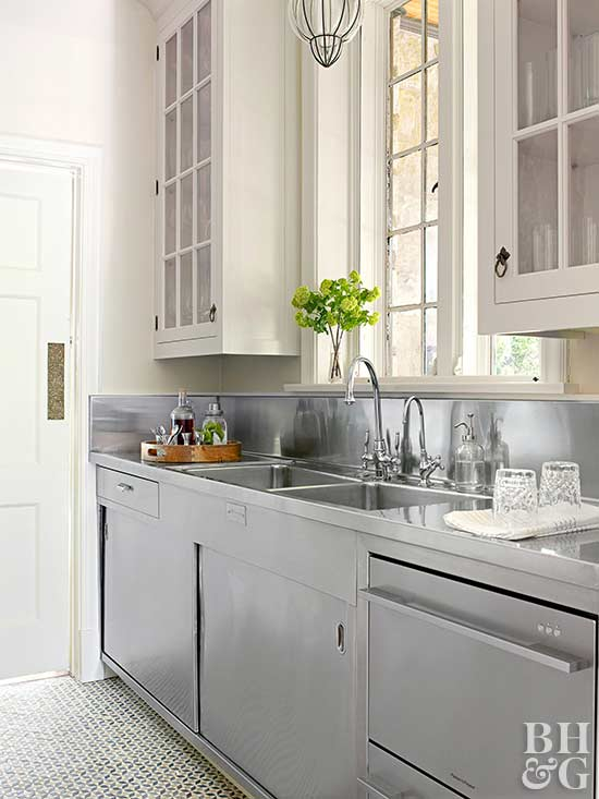 a hardworking butlers pantry needs smart appliances and beautiful materials that can withstand wear and tear dishwasher drawers are ideal for small or - Butler Pantry Design Ideas