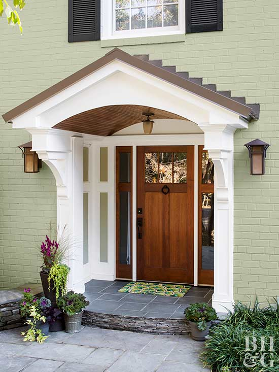 Exterior Door With Window. Because wood has a tendency to warp and expand contract with the  weather door cannot be made from single slab of Choosing Door Materials Interior Exterior Doors