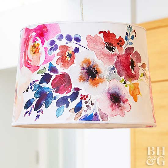 Creative ways to reinvent a lampshade floral lampshade mozeypictures Gallery
