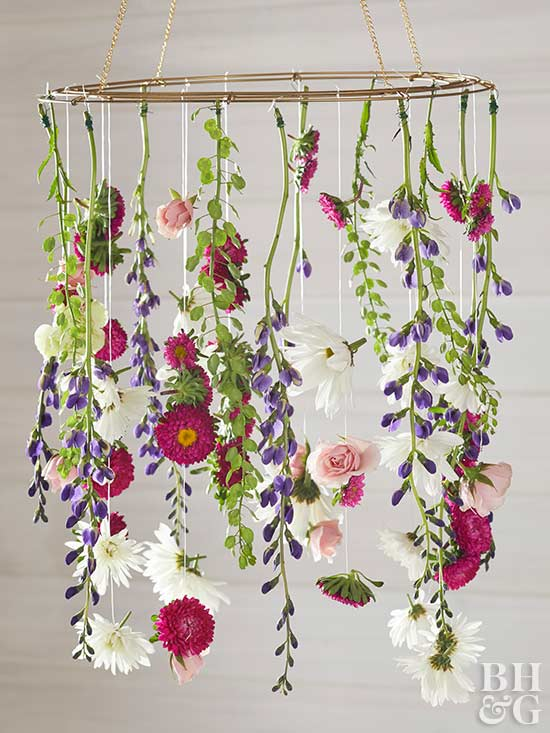 Create a gorgeous diy flower chandelier for Decorative flowers for crafts