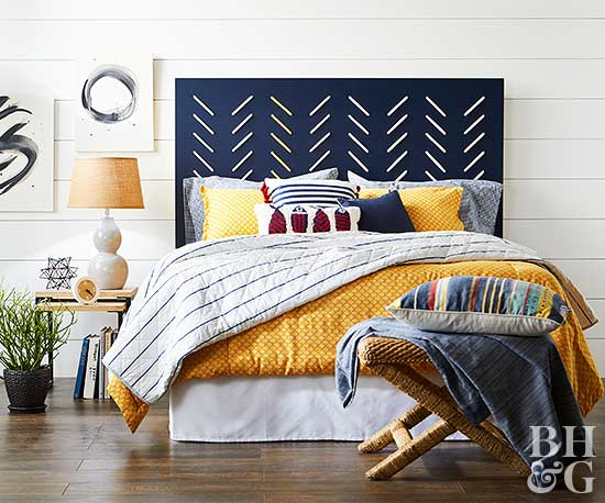 Dress Up Your Headboard With Embroidery