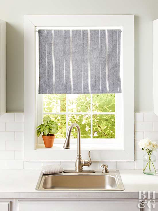 14 diy kitchen window treatments - Window treatment ideas pictures ...