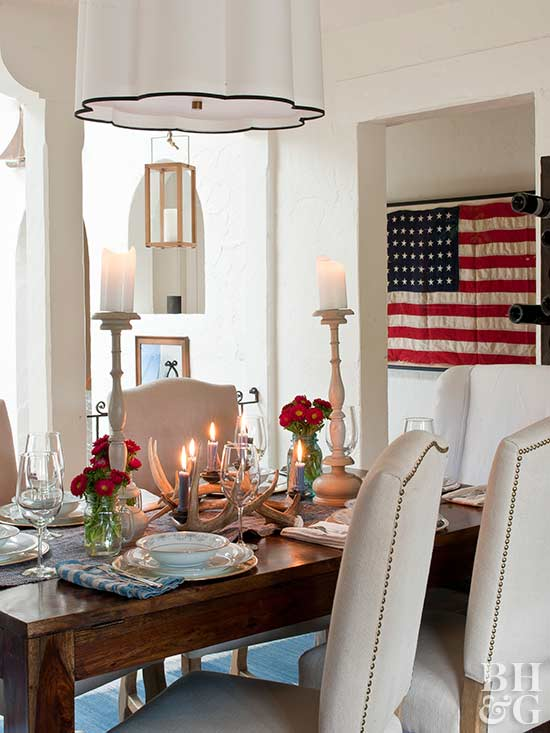 Red, White U0026 Blue Decorating Ideas