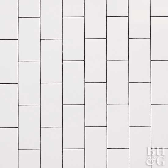 White Tiles With Patterns Kitchens