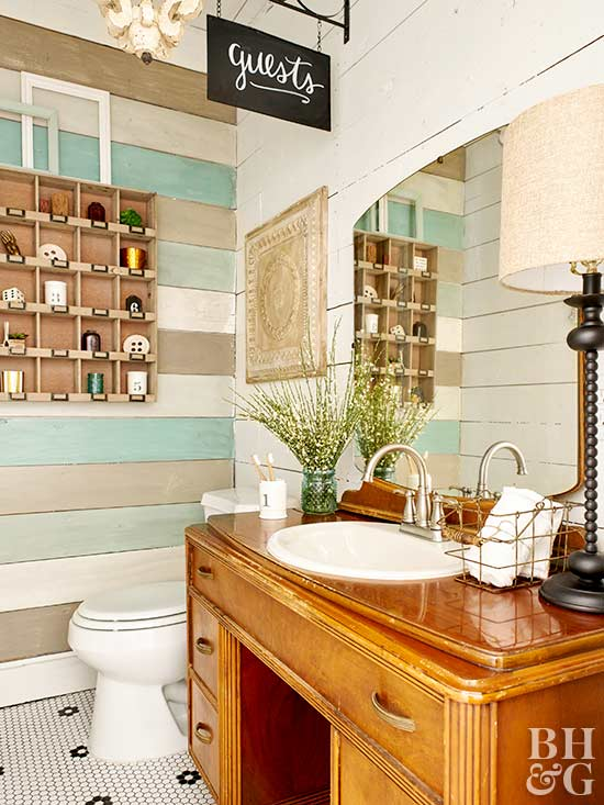 Bathroom Vanity Wood Wall Bathroom Sink The