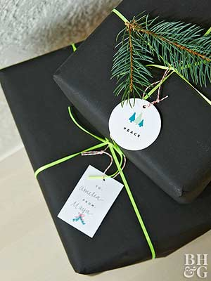 easy christmas gift tags - Christmas Present Decoration