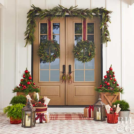 Decorate Winter Front Porch