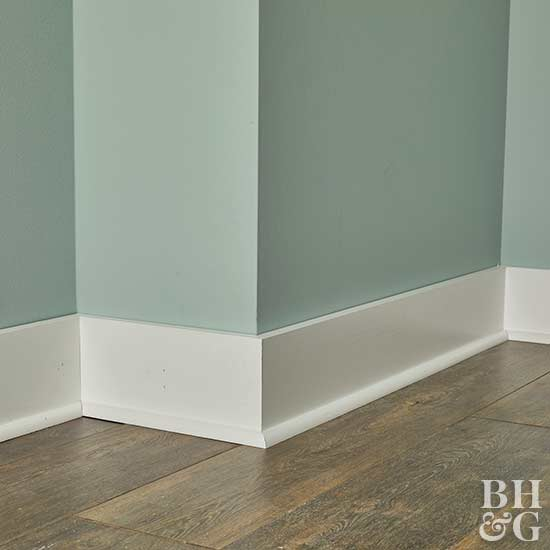 How to install baseboard molding for Type of paint for trim