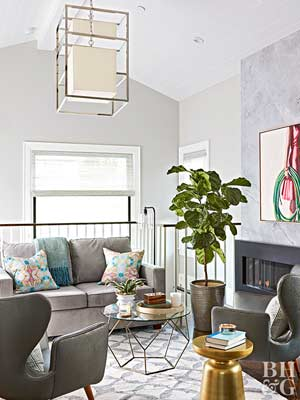 gray living rooms - Traditional Living Room Design Ideas