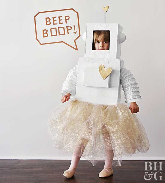 Easy to make kids halloween costumes child halloween costume robot solutioingenieria Image collections