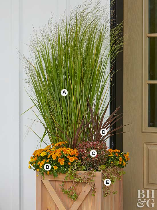 Garden Ideas For Fall Part - 46: Planter Box With Grass, Fall, Fall Planter Box