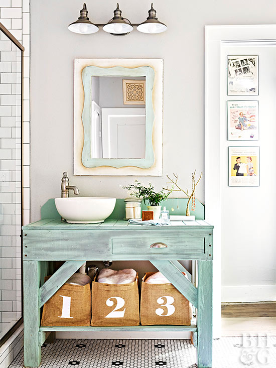 Naturally Inspired Hues Such As Seafoam Green And Robins Egg Blue Typically Make Great Combos And Help To Enhance An Organic Vibe In A Bathroom