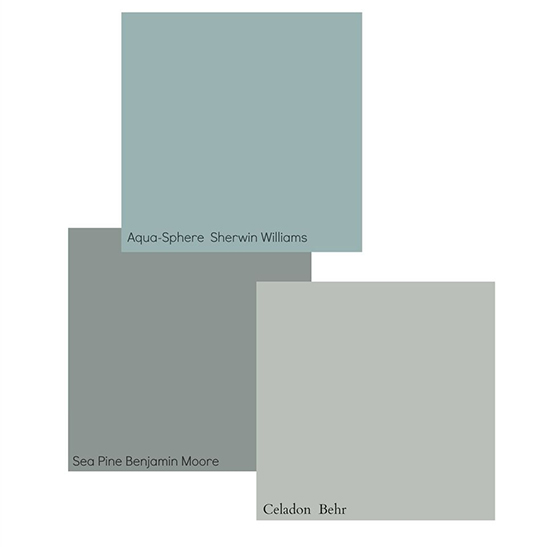 In Addition To Sea Pine More Transitional Blues Thought Be Por 2016 Include Sherwin Williams Aqua Sphere And Behr Celadon
