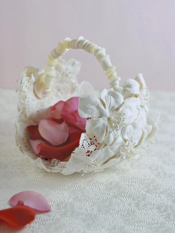 Flower Girl Basket from Vintage Hat
