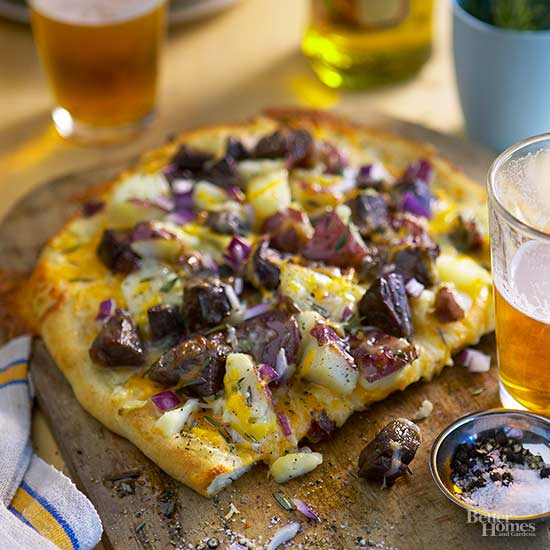 Steak And Potato Pizza
