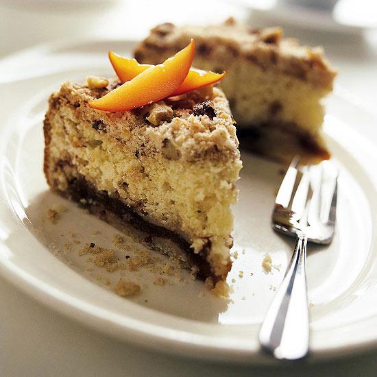 Persimmon Walnut Sour Cream Coffee Cake
