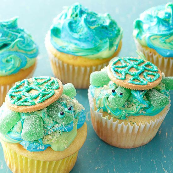 Turtle Cake Cupcakes Recipe