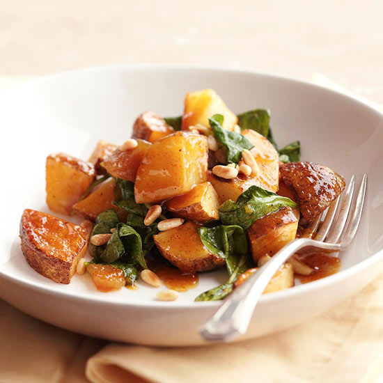 Roasted potato salad with chutney dressing for Better homes and gardens potato salad