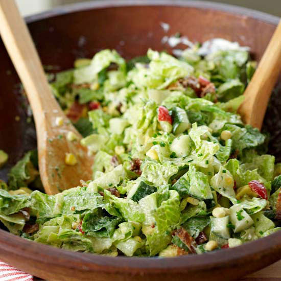 classic chopped salad - Garden Salad Recipe