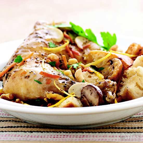 Chicken with Mushroom Stuffing Dinner