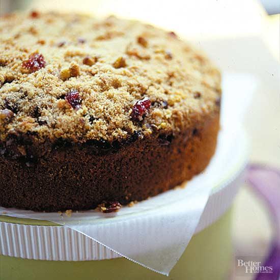 Cranberry Black Walnut Coffee Cake
