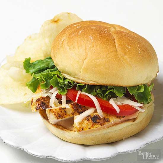Grilled Cajun Chicken Sandwich