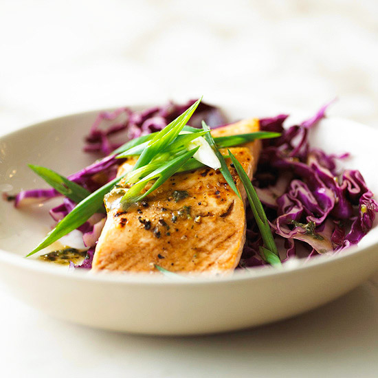 Salmon With Red Cabbage