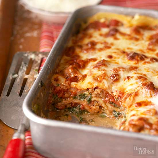 Florentine lasagna for Better homes and gardens lasagna