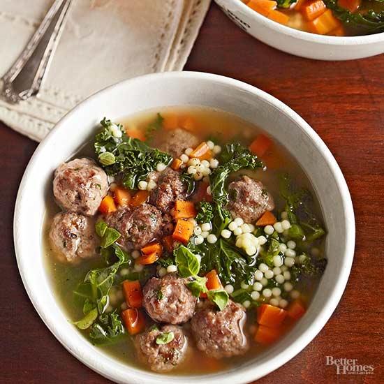 Italian Wedding Soup With Escarole
