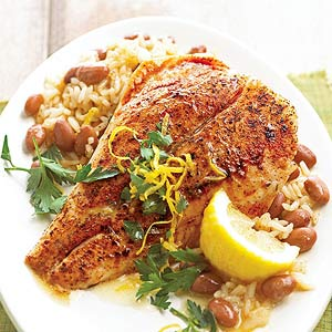 Cajun Snapper With Red Beans And Rice
