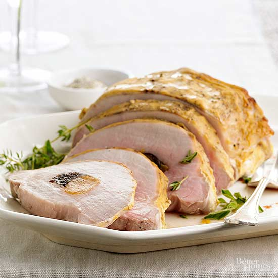 Roast Loin Of Pork Stuffed With Dried Apricots Plums