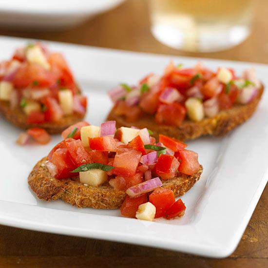 caprese bruschetta - Olive Garden Bruschetta Recipe