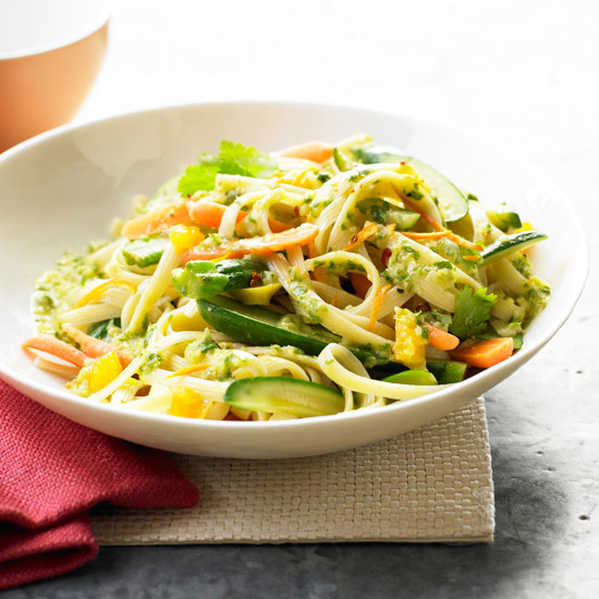 Veggie linguine with cilantro pesto garden veggie linguine with cilantro pesto forumfinder Image collections