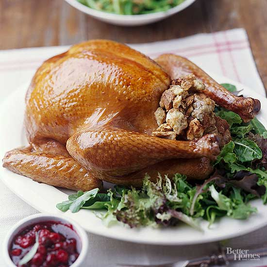 Turkey With White Bread Stuffing