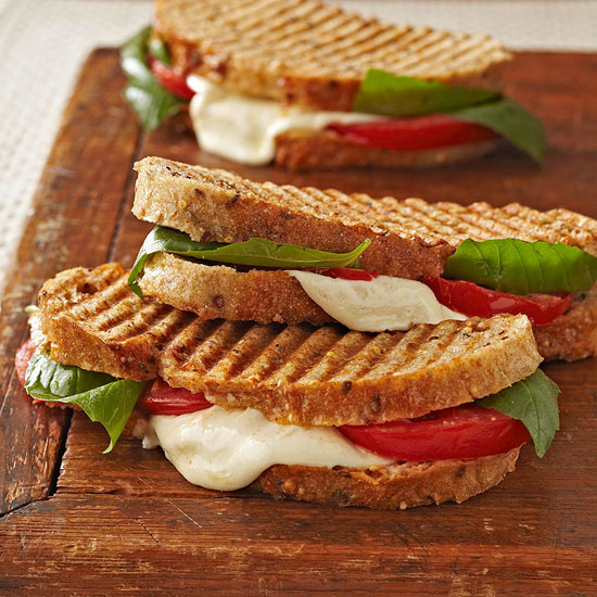Heart healthy vegetarian recipes caprese panini forumfinder Choice Image