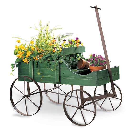 Deal of the Day: 60% Off This Adorable Wagon Planter