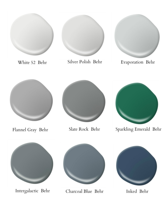 Behr Paint Color Chart Gray