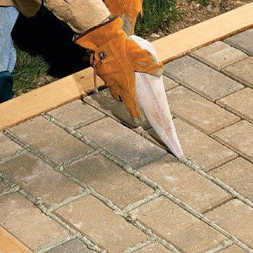 Wonderful Mortared Brick Patio Sand Set Patios Walkways