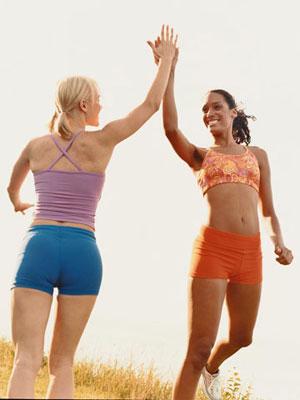 Workout buddies since kindergarten. (Photo courtesy Laura Doss)