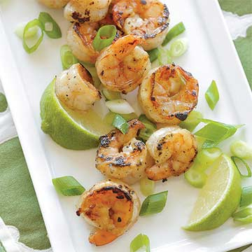 Grilled Honey Lime Shrimp