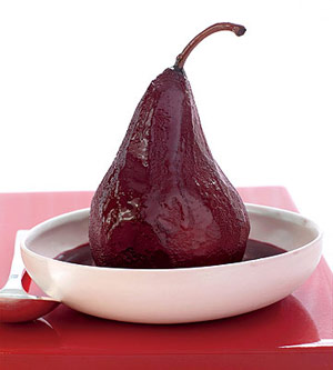 Spiced Red Wine-Poached Pears