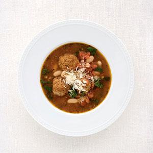 Spinach-Pesto Meatball Soup