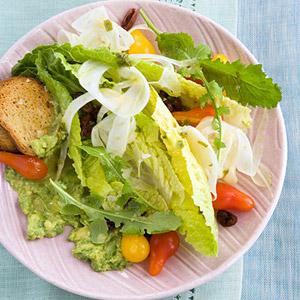 Romaine and Avocado Salad With Lemon-Tarragon Vinaigrette